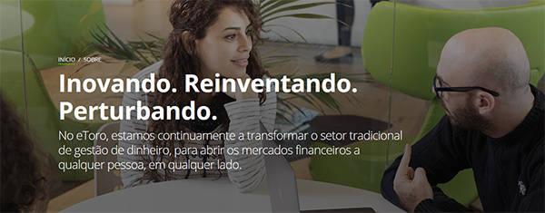 eToro main page