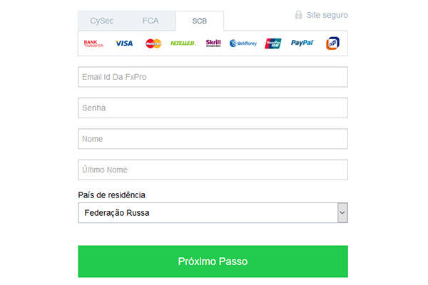 FxPro abrir conta