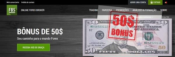 FBS Forex 50$ bonus