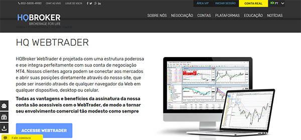 Web trader plataforma