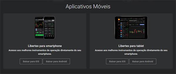 Libertex para iPhone e Android