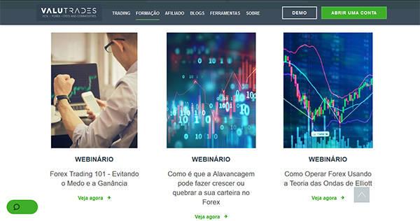 Valutrades webinaros
