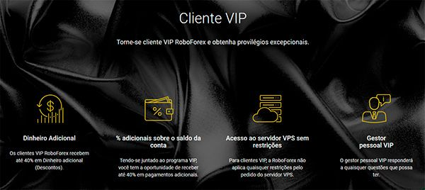 RoboForex Cliente VIP